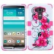 Insten® TUFF Hybrid Phone Protector Cover For LG G3, Morning Petunias/Electric Pink