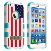 """Insten® TUFF Hybrid Phone Protector Cover W/Stand F/4.7"""" iPhone 6, U.S National Flag/Tropical Teal"""