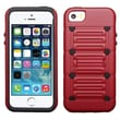 Insten® Protector Cover W/Advanced Armor Stand F/iPhone 5/5S, Red/Black Raised Dots Cutout