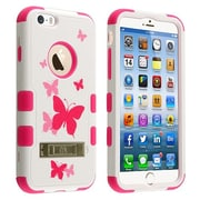 Insten® VERGE Hybrid Protector Cover W/Stand F/4.7 iPhone 6, Butterfly Dancing/Pink