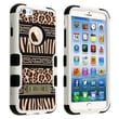 Insten® VERGE Hybrid Protector Cover W/Stand For 4.7in. iPhone 6, Zebra Skin-Leopard Skin/Black
