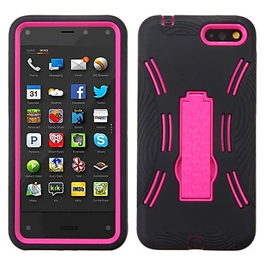 Insten® Symbiosis Stand Protector Case For Amazon Fire, Hot-Pink/Black
