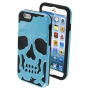 Insten® Hybrid Protector Cover For 4.7 iPhone 6, Metallic Sky Blue/Black Skullcap