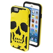 Insten® Hybrid Protector Cover For 4.7 iPhone 6, Solid Pearl Yellow/Black Skullcap