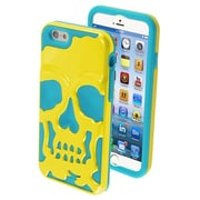 """Insten® Skullcap Hybrid Protector Cover F/4.7"""" iPhone 6, Solid Pearl Yellow/Tropical Teal"""
