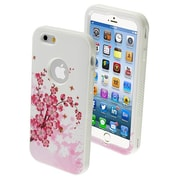 Insten® VERGE Hybrid Protector Cover For 4.7 iPhone 6, Spring Flowers/Solid White
