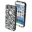 Insten® VERGE Hybrid Protector Cover W/Stand F/4.7in. iPhone 6, Zebra Skin/Black