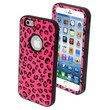 Insten® VERGE Hybrid Protector Cover For 4.7in. iPhone 6, Pink Leopard Skin/Tropical Teal