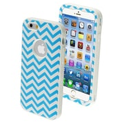 Insten® VERGE Hybrid Protector Cover For 4.7 iPhone 6, Blue Wave/Solid White