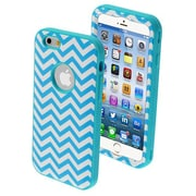 Insten® VERGE Hybrid Protector Cover For 4.7 iPhone 6, Blue Wave/Tropical Teal