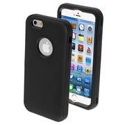"Insten® VERGE Hybrid Protector Cover For 4.7"" iPhone 6, Rubberized Black/Black"