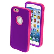 Insten® VERGE Hybrid Protector Cover For 4.7 iPhone 6, Rubberized Grape/Electric Pink