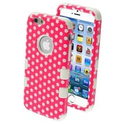 "Insten® TUFF Hybrid Phone Protector Cover F/4.7"" iPhone 6, Pink/White Dots"