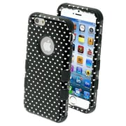 "Insten® TUFF Hybrid Phone Protector Cover F/4.7"" iPhone 6, Black Vintage Heart Dots/Black"