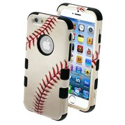 "Insten® TUFF Hybrid Phone Protector Cover F/4.7"" iPhone 6, Baseball-Sports/Black"