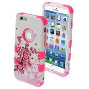 "Insten® TUFF Hybrid Phone Protector Cover F/4.7"" iPhone 6, Spring Flowers/Electric Pink"