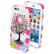 "Insten® TUFF Hybrid Phone Protector Cover F/4.7"" iPhone 6, Love Tree/Electric Pink"