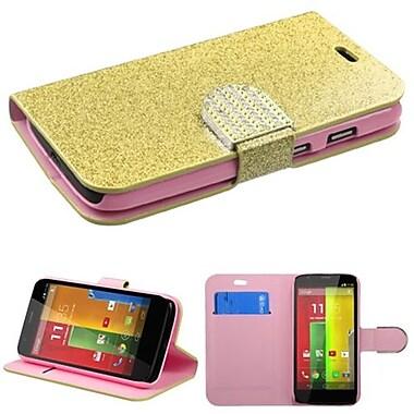 Insten® MyJacket For Motorola G, Gold Glittering