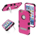 Insten® TUFF Hybrid Phone Protector Cover W/Stand For 4.7in. iPhone 6, Natural Hot-Pink/Black