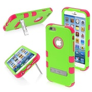 "Insten® TUFF Hybrid Phone Protector Cover W/Stand F/4.7"" iPhone 6, Pearl Green/Electric Pink"
