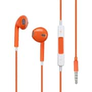 Insten® Stereo Handsfree Headset For iPhone, Orange