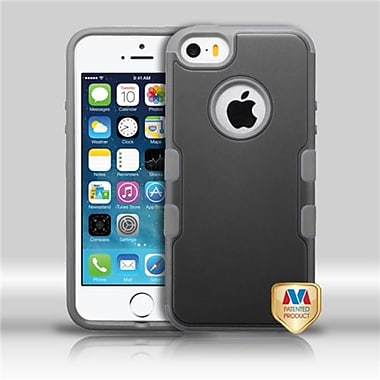 Insten® TUFF Merge Hybrid Protector Cover F/iPhone 5/5S, Natural Black/Iron Gray