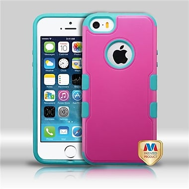 Insten® TUFF Merge Hybrid Protector Cover F/iPhone 5/5S, Natural Hot-Pink/Tropical Teal