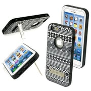 "Insten® VERGE Hybrid Protector Cover W/Stand F/4.7"" iPhone 6, Tribal Binary/Black"
