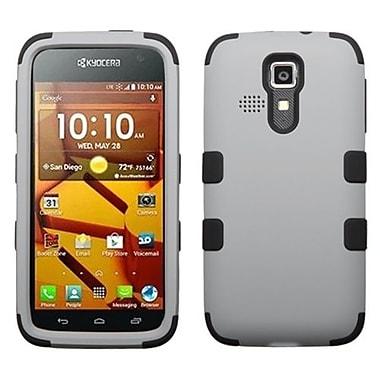 Insten® Rubberized TUFF Hybrid Phone Protector Cover For Kyocera C6730/C6530, Gray/Black