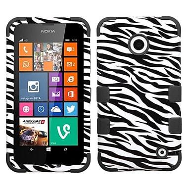 Insten® TUFF Hybrid Phone Protector Cover For Nokia Lumia 630/635, Zebra Skin/Black