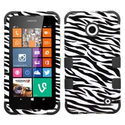 Insten® TUFF Hybrid Phone Protector Cover For Nokia Lumia 630/635, Zebra Skin/Black