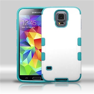 Insten® TUFF Merge Hybrid Protector Cover For Samsung Galaxy S5, Natural Cream White/Tropical Teal