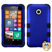 Insten® TUFF Hybrid Phone Protector Cover For Nokia Lumia 635/630, Titanium Dark Blue/Black