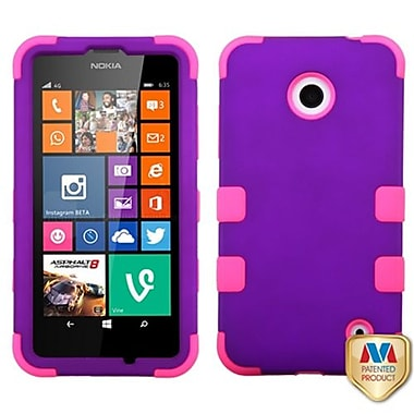 Insten® Rubberized TUFF Hybrid Phone Protector Cover For Nokia Lumia 635/630, Grape/Electric Pink