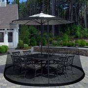 Pure Garden Outdoor Umbrella Screen, Black