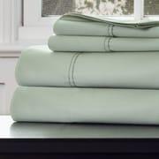 Lavish Home Cotton & Polyester Rich Sateen Sheet Set, Green