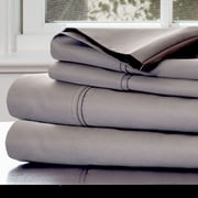 Lavish Home Cotton & Polyester Rich Sateen Sheet Set, Platinum