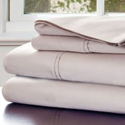 Lavish Home Cotton & Polyester Rich Sateen Sheet Set, Champagne