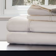 Lavish Home Cotton & Polyester Rich Sateen Sheet Set, Ivory