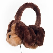 Happy Trails Plush 80-AP084 Stereo Headphones Puppy, Brown