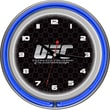 UFC Glass Chrome Double Ring Neon Clock, V1