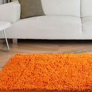 Lavish Home High Pile Carpet Shag Rug, Orange