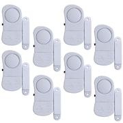 Stalwart 72-852075 8 Piece Mini Window Security System Alarm Set, White