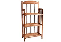 Lavish Home Wood Bookcases, 3 or 4 Shelf