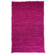 Lavish Home High Pile Carpet Shag Rug, Pink