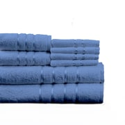 Lavish Home Cotton Plush Bath Towel Set, Blue