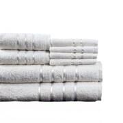 Lavish Home Cotton Plush Bath Towel Set, White