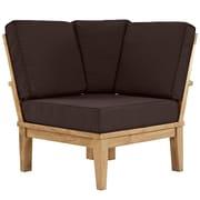 Modway Marina EEI-1146-NAT-BRN-SET 1 Piece Fabric Corner Sofa , Natural Brown