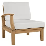Modway Marina EEI-1148-NAT-WHI-SET 1 Piece Fabric Right-Arm Sofa, Natural White