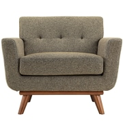 Modway Engage EEI-1178-OAT Polyester/Wood Armchair, Oatmeal Tweed